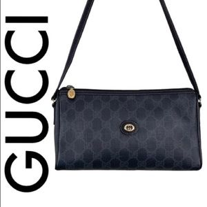 GUCCI BLACK VINTAGE MONOGRAM RARE CROSSBODY
